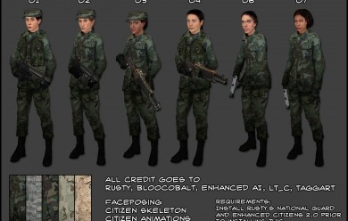 Female National Guard.zip For Garry's Mod Image 1