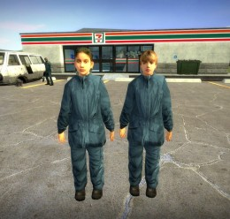 HL2 Blue Suit Kids v2 For Garry's Mod Image 1