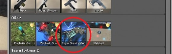 Super gravity gun fix + icons