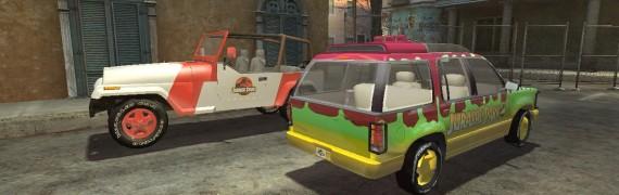 Jurassic Park Cars