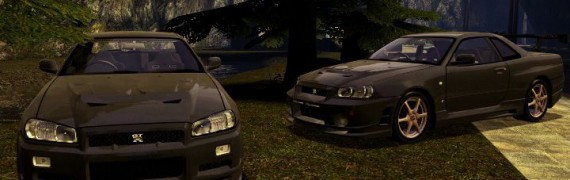 Drivable Nissan Skyline R34 by