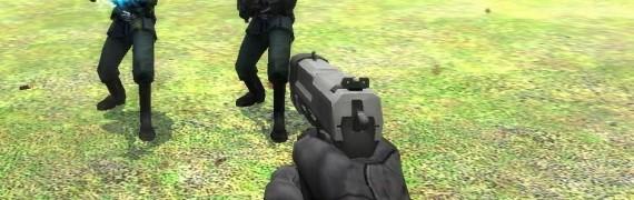 2 handed pistol