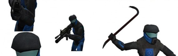 Blue Helmet Player Model