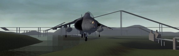 Flyable Gcombat Harrier Jet