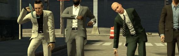 Suit wearing citizens