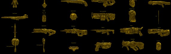 DOOM Golden Guns (props)