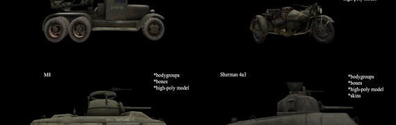CoD WaW Allied Vehicles props