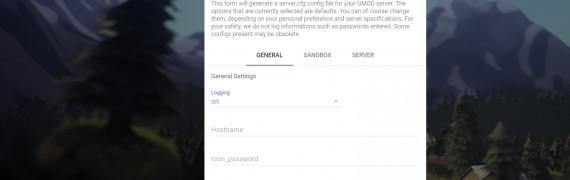 Garry's Mod Server CFG Maker