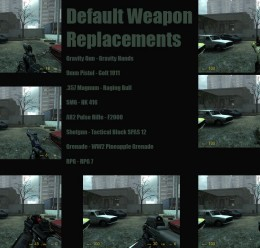 HL2 Weapon Replacements FULL For Garry's Mod Image 1