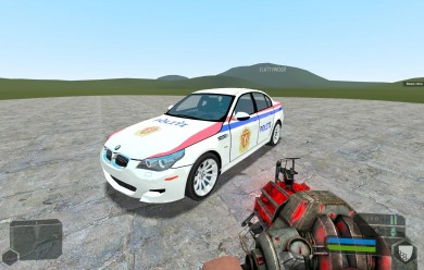 tdm_bmw-m5_police_skin.zip For Garry's Mod Image 2