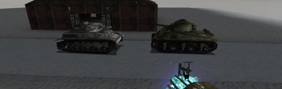 Panzer IV and Sherman Tank