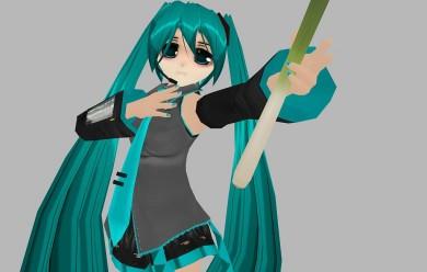 Hatsune Miku + Leek For Garry's Mod Image 1