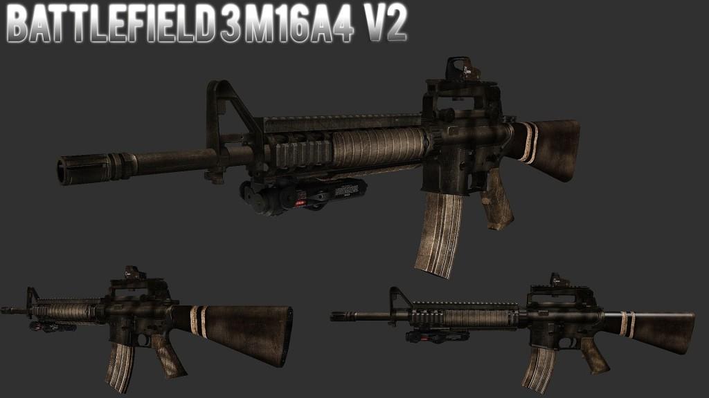 Battlefield 3-like M16A4 | garrysmods.org M16a4 Bf3