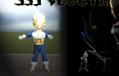 Vegeta SSJ Model For Garry's Mod Image 1