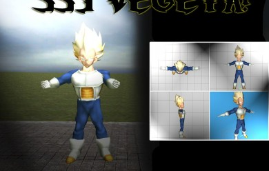 Vegeta SSJ Model For Garry's Mod Image 2