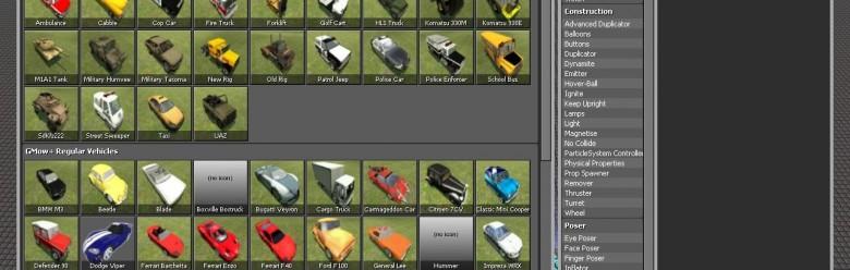 vehiclepack update For Garry's Mod Image 1