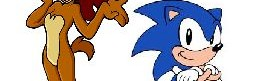 Sally Acorn and Sonic spray