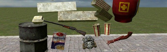 A few small FO3 props ported