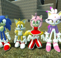 Sonic,Tails,Amy,Blaze Reskins. For Garry's Mod Image 1