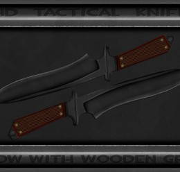 Tactical Css Knife Wooden Grip For Garry's Mod Image 1