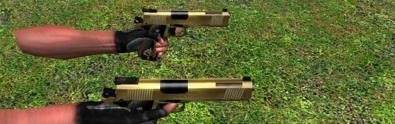 dual 1911s gold pistols(with a